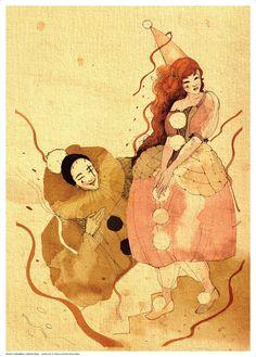 Poster Pierrot e Colombina | Cazulo