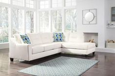 Kirwin Nuvella Sofa Chaise in 3 Colors