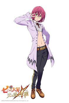 Gowther in new RPG game Nanatsu no Taizai Hikari to Yami no Grand Cross Seven Deadly Sins Anime, 7 Deadly Sins, Character Drawing, Character Design, Demon King Anime, 7 Sins, Grand Cross, Seven Deady Sins, Fairy Tail Anime