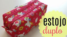 Sewing Backpack Tutorial Pencil Cases New Ideas Backpack Tutorial, Pouch Tutorial, Sewing Hacks, Sewing Tutorials, Box Video, Clutch Pattern, Sewing Projects For Kids, Sewing Studio, Fabric Bags