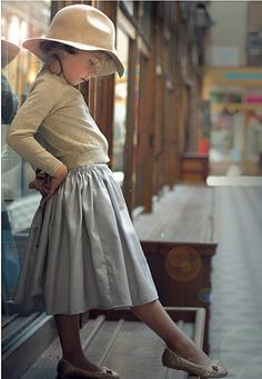 Perfect, French, and feminine for a little girl. The Winter 2012 Carrousel-SKIRT CONCORDE