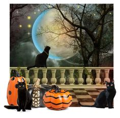 """""""Happy Halloween"""" by lois-boyce-flack ❤ liked on Polyvore featuring art and Halloween"""