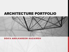 Portfolio for Architect Doa'a Hazaimeh