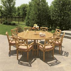 Teak Dining Chairs - Teak Dining Armchairs - Fiori Collection - Country Casual