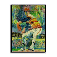 "LeRoy Neiman Michael Jordan basketball Art HD Print canvas wall decor 24x30/"""