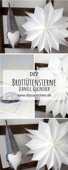Last Minute DIY: gift idea for Christmas, poinsettias made out of bread bags in less than 5 minutes! ☆ Last Minute DIY: gift idea for Christmas, poinsettias made out of bread bags in less than 5 minutes! Christmas Poinsettia, Christmas Bags, Diy Christmas Gifts, Christmas Decorations, Christmas Ornaments, Christmas Bread, Advent Calendar Gifts, Diy Hanging Shelves, Diy Bags Purses