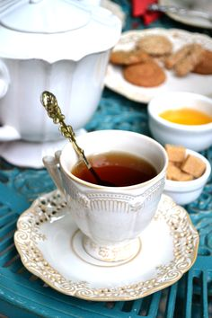 Today (and Thursday) in Our Global Kitchen, taste a bit of Earl Gray or English Breakfast tea with a side of shortbread.