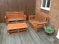 Garden benches and table in pallet furniture pallet outdoor project  with Table Sofa pallet Bench