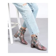 Attilio Giusti Leombruni - Step into the week wearing the Tropical ankle boot in graphic floral print designed by the Giusti Sisters. #aglshoes #fw17 #shoes #bootie #tropical #print