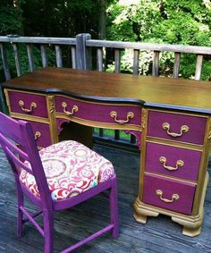 Dresser? Paint drawers and leave wood top and frame? Not purple though!!