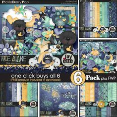 Wide Awake 6-Pack ~ PLUS FWP by Fayette Designs By Fayette Designs