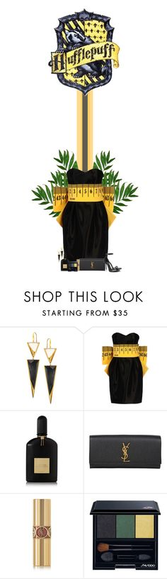 """""""Hufflepuff"""" by pecio-chan ❤ liked on Polyvore featuring Lana, Moschino, Tom Ford, Yves Saint Laurent and Shiseido"""