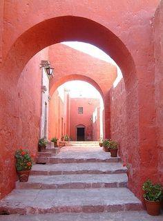 Marsala, Pantone color for 2015 Santa Caterina Monastry in Peru Live Coral, Coral Pink, Photocollage, Color Of The Year, Pantone Color, Pantone 2015, Wall Colors, Color Walls, Mood Colors