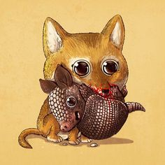L'illustrateurAlex Soliscontinue son projetPredator vs. Preyavec une nouvelle série d'illustrations adorablesmettant en scène les prédateurs et l