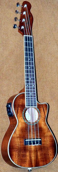 Fender Mino'aka cutaway Concert #LardysUkuleleOfTheDay #Concert #Ukulele ~ https://www.pinterest.com/lardyfatboy/lardys-ukulele-of-the-day/ ~