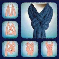 How To Tie A Winter Knitted Scarf