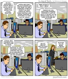 The Joy of Tech. the comic about pop culture and technology, by Nitrozac and Snaggy! Know It All, Do You Know What, Social Media Humor, Funny Pins, Really Funny, Pop Culture, Joy, Comics, Technology