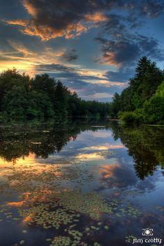 Summer Nightfall at Highland Lake Inn 1   Flickr - Photo Sharing! - by Jim Crotty - Hendersonville, North Carolina