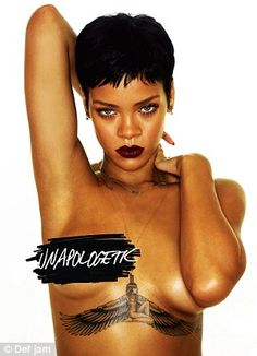 The original: The image was taken from Rihanna's album cover and now used to promote the singer's Diamonds World Tour