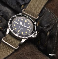 Vintage Tudor Submariner On NATO Strap Circa 1960s