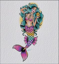 mermaid tattoo flash Mermaid Tattoo Designs, Mermaid Tattoos, Tattoo Flash, Collection, Ideas, Art, Art Background, Kunst, Design Tattoos