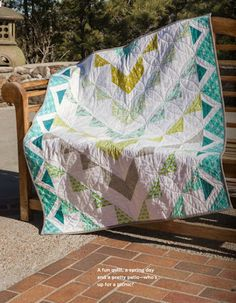 Azteca Quilt Featured in Modern Quilts Unlimited Magazine, fabrics from Les Amis Collection for Micheal Miller.