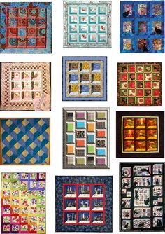 """Quilt Inspiration: Free Pattern Day: Attic Windows Quilts...The Attic Windows pattern is one of the most popular and best loved of all three dimensional quilt patterns. The pattern draws the eye into a """"shadow box"""" effect. Attic Windows are an excellent way to showcase special blocks or large prints. They can be constructed with mitered corners or - the easy way - with half-square triangles at the corners. Here are some free patterns and tutorials (updated January 1, 2015!)"""