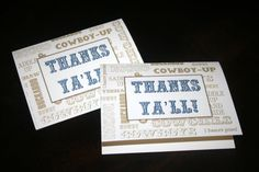 Printable Custom Western Thank You Card - DIY