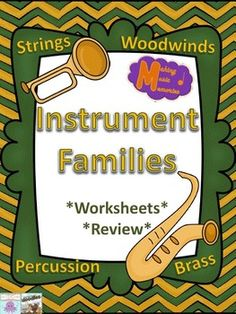 These files will hopefully bring some fun to your Instrument Families unit. Music Lesson Plans, Music Lessons, Woodwind Instrument, Percussion Instrument, Brass Instrument, Family Worksheet, Music Activities, Music Games, Music Worksheets