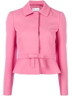 Shop Red Valentino bow detail fitted jacket.