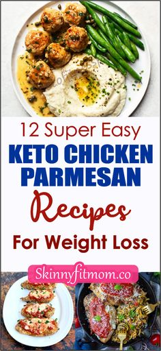 If you are wondering how to start a keto meal plan as a chicken lover, here are super easy keto chicken parmesan recipes for weight loss in no time. Check out this post for more. Ketogenic Recipes, Keto Recipes, Dinner Recipes, Healthy Recipes, Low Carb Chicken Parmesan, Chicken Marinara, Keto Chicken Thighs, Work Meals, Keto Dessert Easy