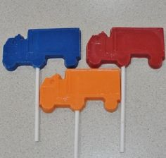 12 Chocolate Semi Truck Lollipops  Birthday Party by TheSugarBarn, $13.00