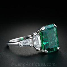 Vintage Emerald Ring - 30-1-1221 - Lang Antiques