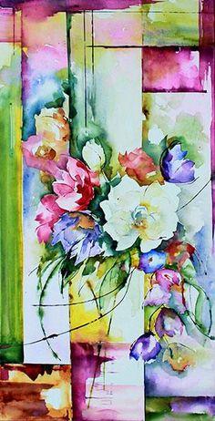 Véronique Piaser-Moyen (©2013 piasermoyen.com) Aquarelle originale peinte sur châssis entoilé.