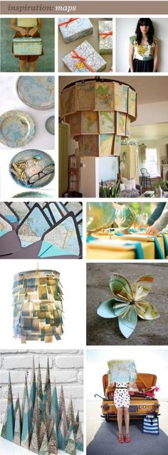 I just love maps!  Here are some great crafty ideas on how to use them!