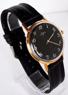 Men's Deluxe Vintage Watch LUCH Gold-plated USSR, Rare Luxury Soviet Watch #LuxuryDressStyles #Luch #Luxury #Gold #watch #gifthim #forhim #vintage #Deluxe