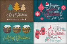 Mega Bundle: Christmas Art & Fonts on Behance