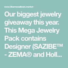 Our biggest jewelry giveaway this year. This Mega Jewelry Pack contains Designer (SAZIBE™ - ZEMA® and Hollohaza®), Sterling Silver, and Artisan (magyar tribe™) jewels in value $696.88. Barn Swallow, Christmas Giveaways, Packing Jewelry, Big Jewelry, Christmas Jewelry, Helpful Hints, Artisan, Jewels, Sterling Silver