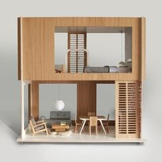 Another cute doll house! I want!! ------Arkitekttegnet dukkehus - Minko