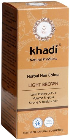 Khadi Herbal Hair Colour Light Brown is an all-natural hair colour based on Ayurvedic formulations. The Light brown herbal hair colour not only colours hair a light to medium brown, but also, leaves hair looking shiny, strong and healthy. The more times you use Khadi hair colours the more the hair appears to become stronger. BDIH Certified. Vegan.