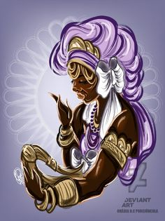 Nana by OradiaNCPorciuncula on DeviantArt Orisha, African Mythology, Cuban Art, Beauty In Art, Witch Doctor, Black Artwork, Afro Art, African History, Book Of Shadows