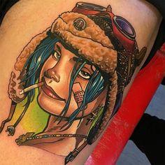 Tank Girl by @danegrannontattooer at @creativevandals in Hull United Kingdom. #tank #girl #tankgirl #danegrannon #danegrannontattooer #creativevandals #hull #cityofkingstonuponhull #unitedkingdom #uk #tattoo #tattoos #tattoosnob