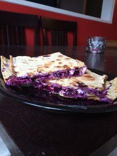 Blueberry Cream Cheese Quesadilla