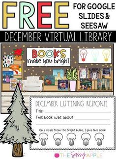 Your students will love these holiday books! Each one is linked to a read aloud on Youtube (no ads!). Available in Seesaw and Google Slides. Includes a listening response page. Perfect for 1st-4th graders. Makes a great literacy center. Free Teaching Resources, Classroom Resources, Teaching Ideas, Teacher Freebies, 2nd Grade Classroom, Teacher Organization, Seesaw, Children's Literature, Library Books