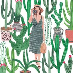 Don't forget to squeeze a lil' plant shopping into your long weekend! - All For Gardening Plant Art, Illustrators On Instagram, Gouache Painting, Long Weekend, Arts And Crafts, Sunday, Artsy, Hand Painted, Creative