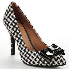 Two trends in one: ladylike shoes inspired by menswear. #Apt9 #heels #houndstooth #Kohls