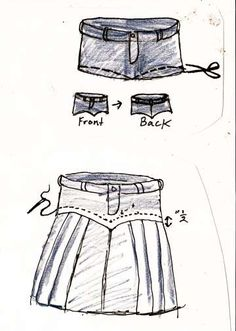 My mom would make these for my sisters and I back in the late 80s. denim skirts! DIY