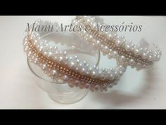 Tiara LUXUOSA com pérolas e Strass:by Manu Artes - YouTube