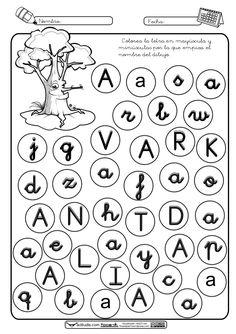 Identificación de-vocales Fails, Crafts For Kids, Preschool, Writing, Letter Identification, Alphabet Soup, Letter Activities, Speed Reading, Kid