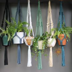 Macramé Plant Hangers in assorted neutral door SunshineDreamingAUS